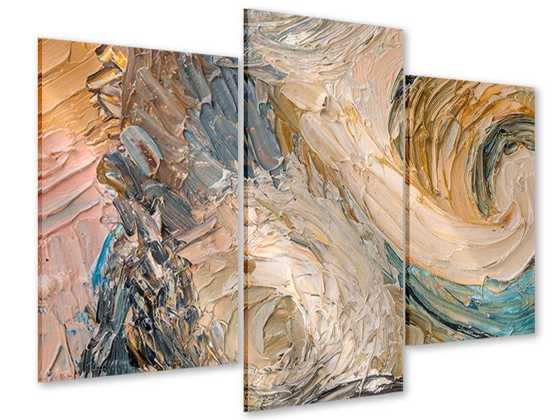 Acrylglasbild 3-teilig modern Ölgemälde