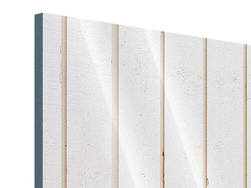 Acrylglasbild 3-teilig modern Mediterranes Holz