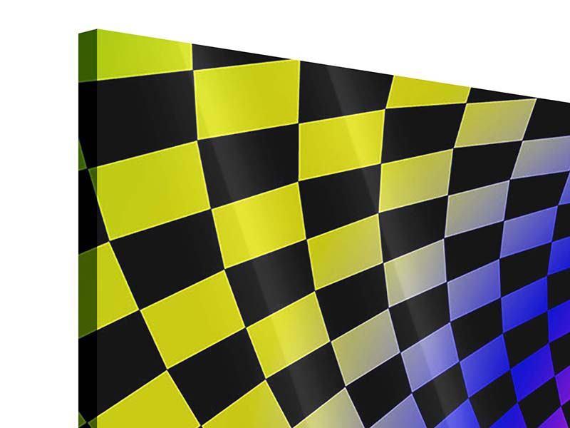 Acrylglasbild 3-teilig modern Abstrakter Retro Tunnel