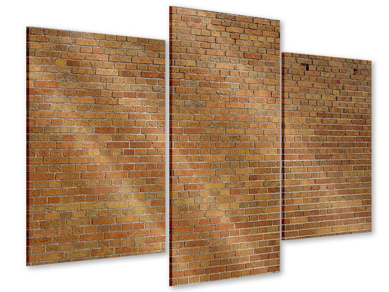 Acrylglasbild 3-teilig modern Backsteinhintergrund