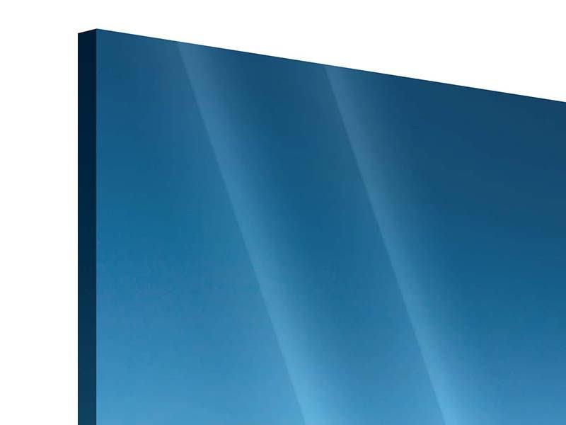 Acrylglasbild 3-teilig modern Das Meer und Jules Verne