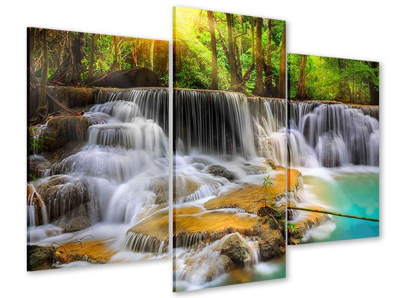 Acrylglasbild 3-teilig modern Nationalpark Si Nakharin