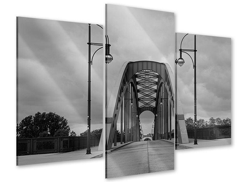 Acrylglasbild 3-teilig modern Poetische Brücke