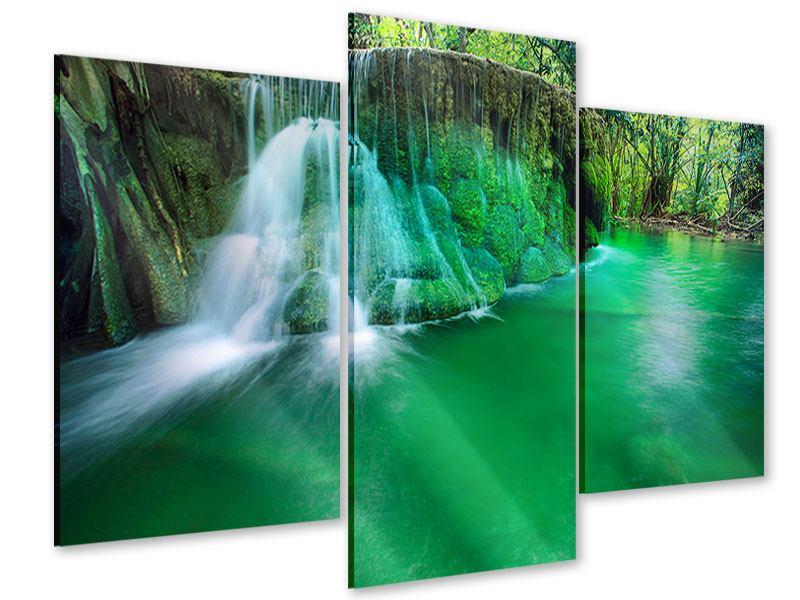 Acrylglasbild 3-teilig modern Im Paradies