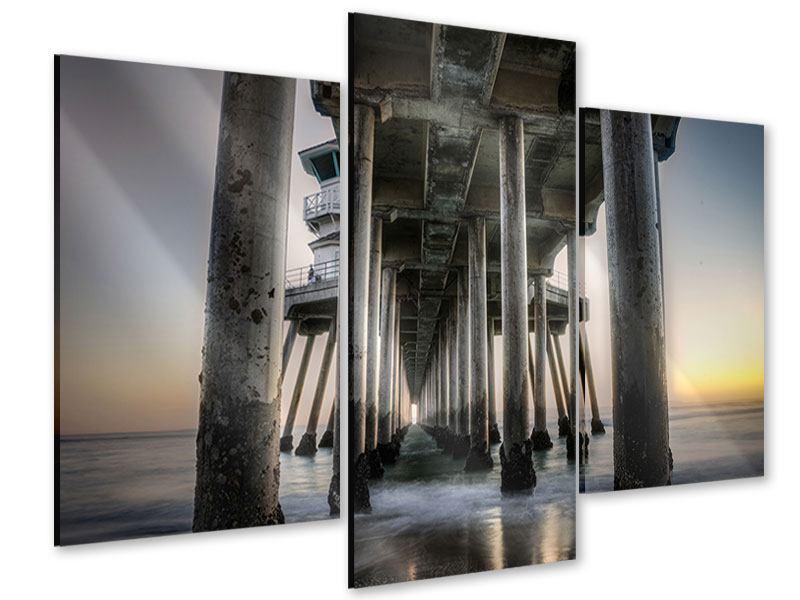 Acrylglasbild 3-teilig modern Brückenpfeiler