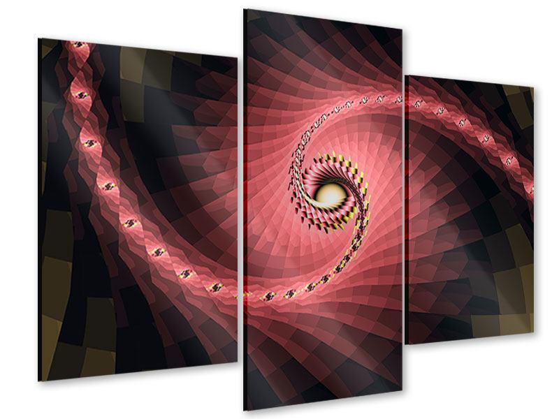 Acrylglasbild 3-teilig modern Abstrakte Windungen
