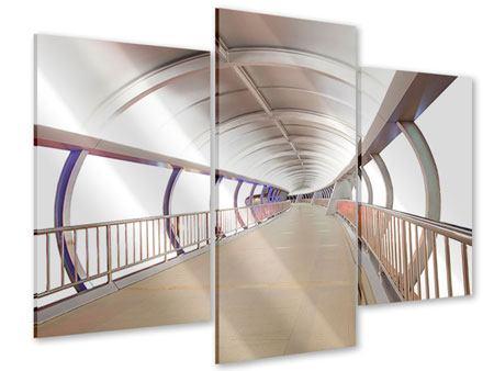 Acrylglasbild 3-teilig modern Brückenfeeling