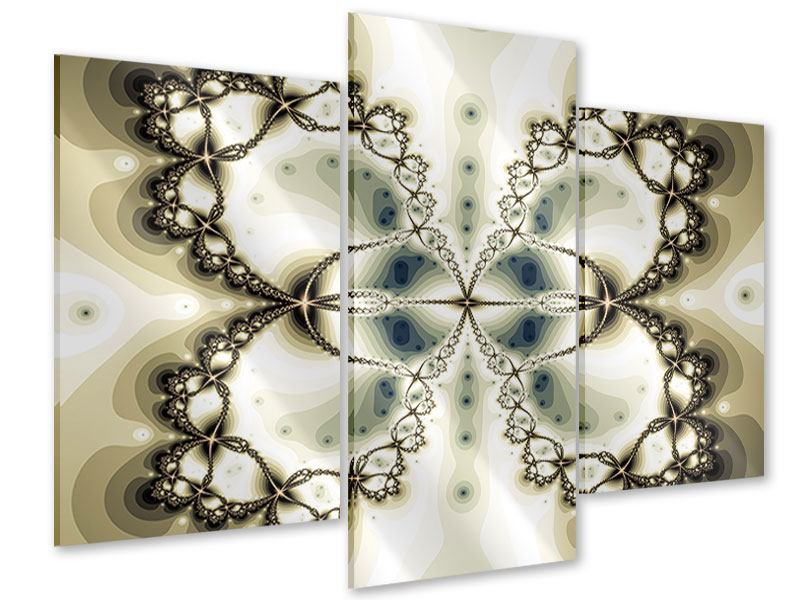Acrylglasbild 3-teilig modern Abstrakter Schmetterling
