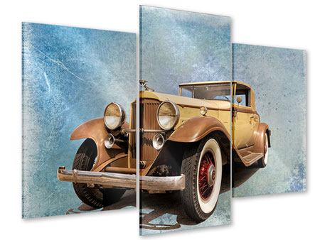 Acrylglasbild 3-teilig modern Nostalgischer Oldtimer
