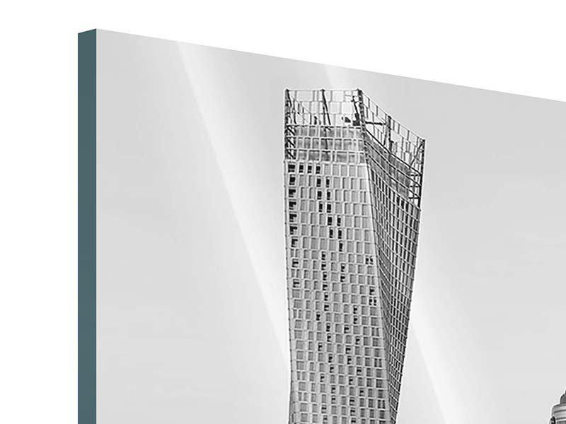 Acrylglasbild 3-teilig modern Majestätische Wolkenkratzer in Dubai