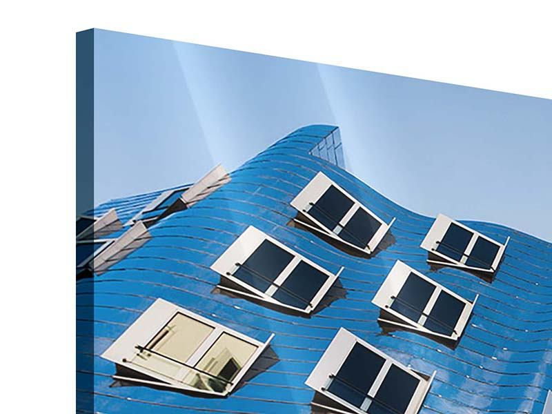 Acrylglasbild 3-teilig modern Neuer Zollhof