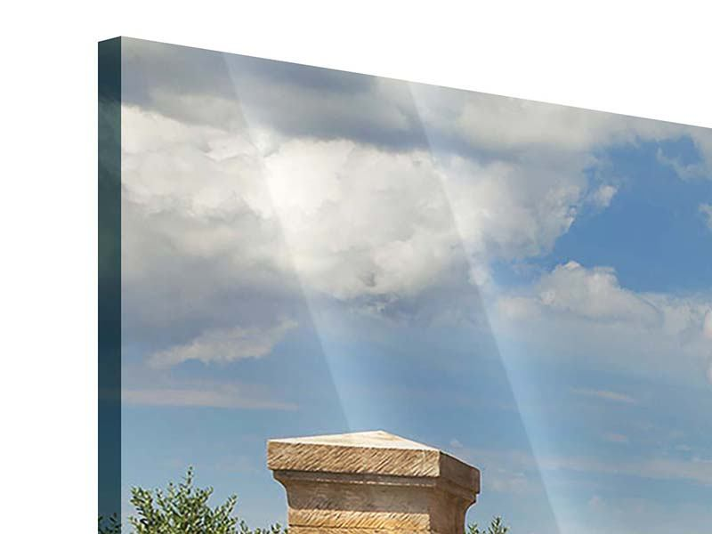 Acrylglasbild 3-teilig modern Lavendel-Garten