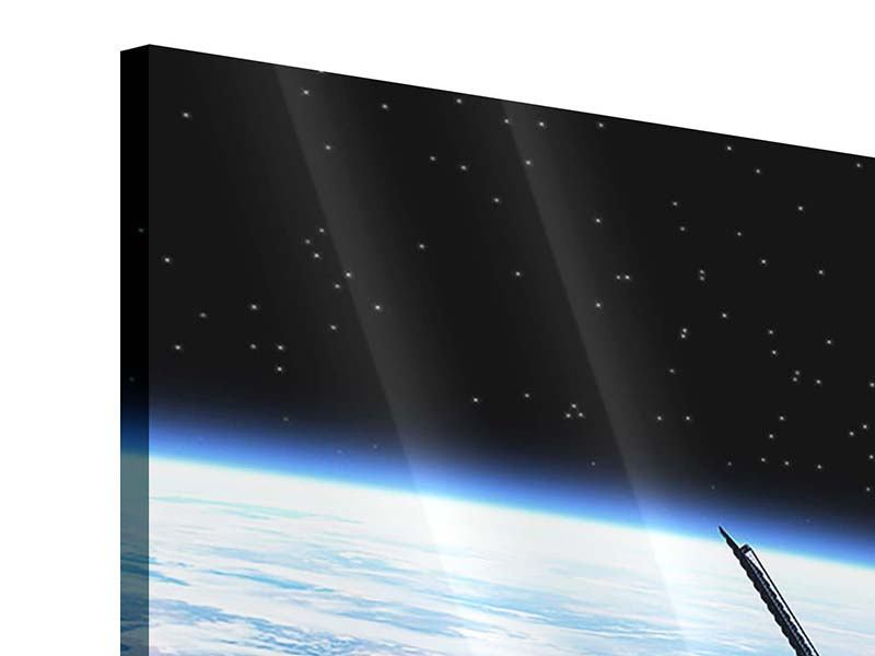 Acrylglasbild 3-teilig modern Satellit