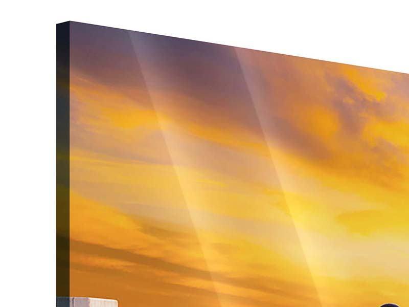 Acrylglasbild 3-teilig modern Die Brücke Ins Glück