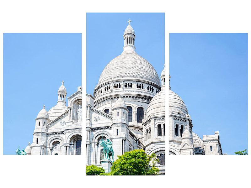Acrylglasbild 3-teilig modern Paris- Montmartre