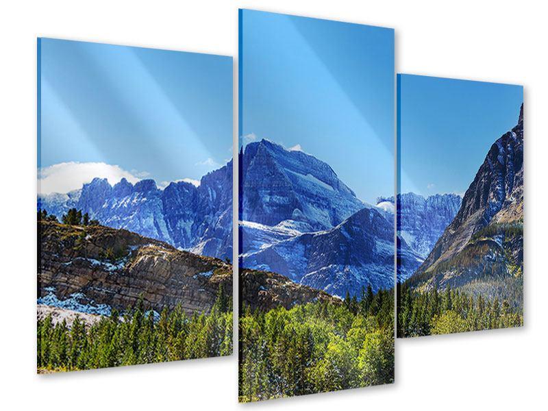Acrylglasbild 3-teilig modern Dem Gipfel entgegen