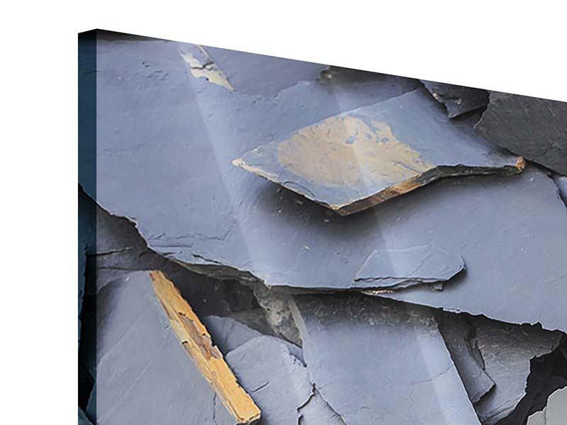 Acrylglasbild 3-teilig modern Schieferplatten