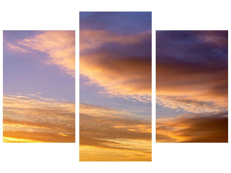 Acrylglasbild 3-teilig modern Himmlisch