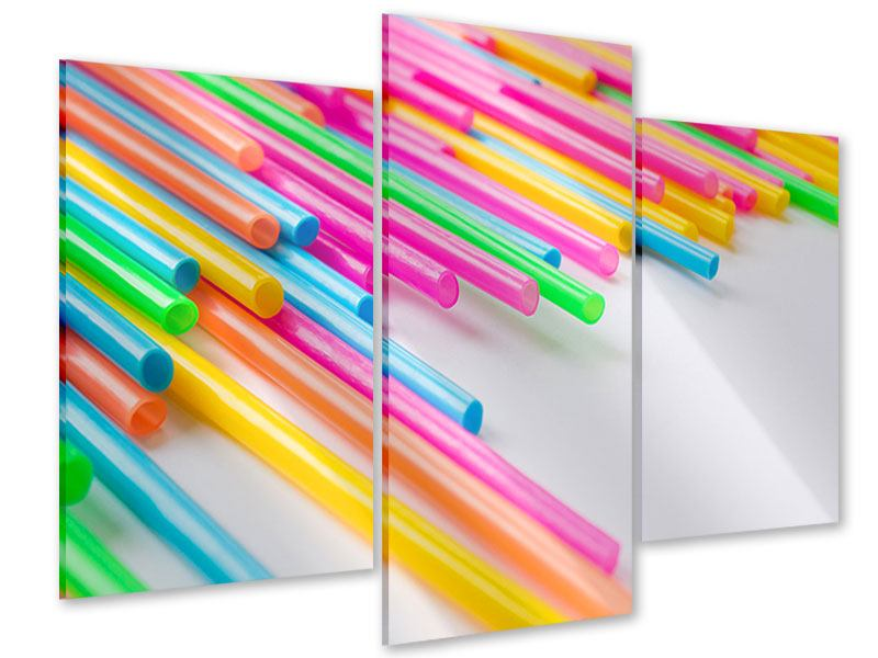 Acrylglasbild 3-teilig modern Pop Art