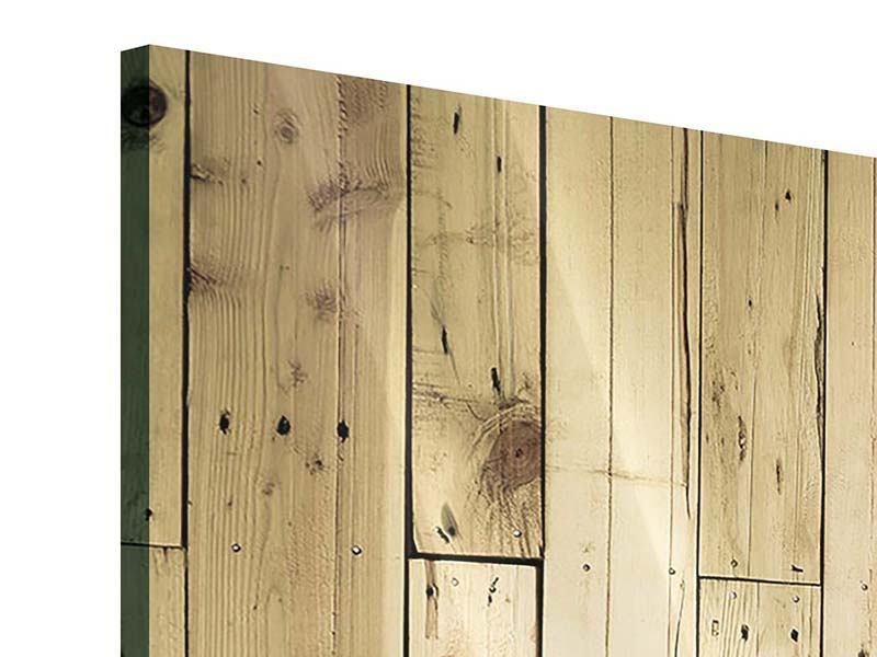 Acrylglasbild 3-teilig modern Holzpaneelen
