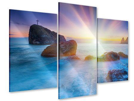 Acrylglasbild 3-teilig modern Mystisches Meer
