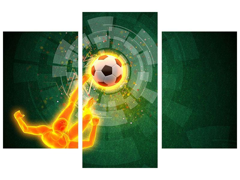 Acrylglasbild 3-teilig modern Der Kicker