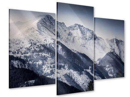 Acrylglasbild 3-teilig modern Die Berge der Schweiz