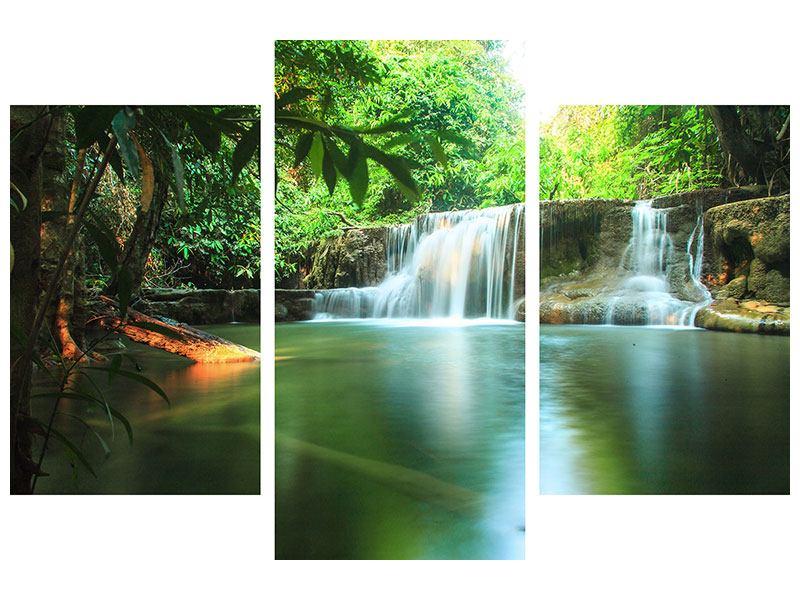 Acrylglasbild 3-teilig modern Element Wasser