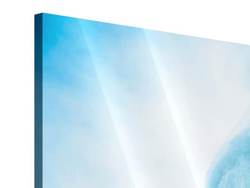 Acrylglasbild 3-teilig modern Die Eiswand
