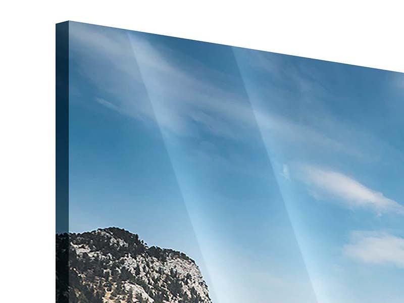 Acrylglasbild 3-teilig modern Der idyllische Bergsee