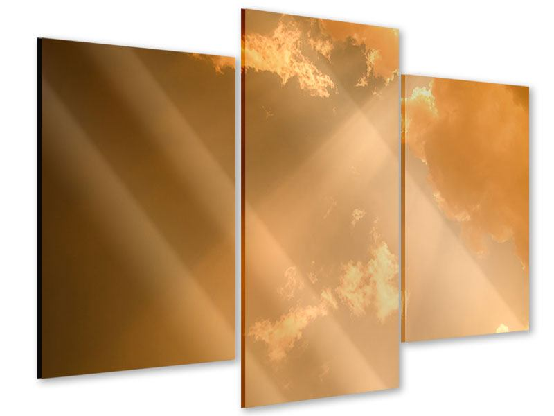 Acrylglasbild 3-teilig modern Abendhimmel