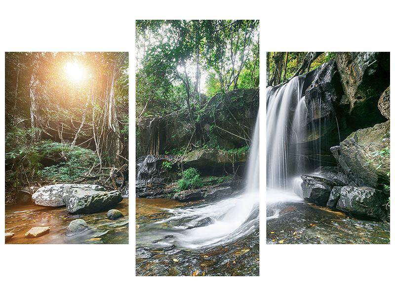 Acrylglasbild 3-teilig modern Naturschauspiel
