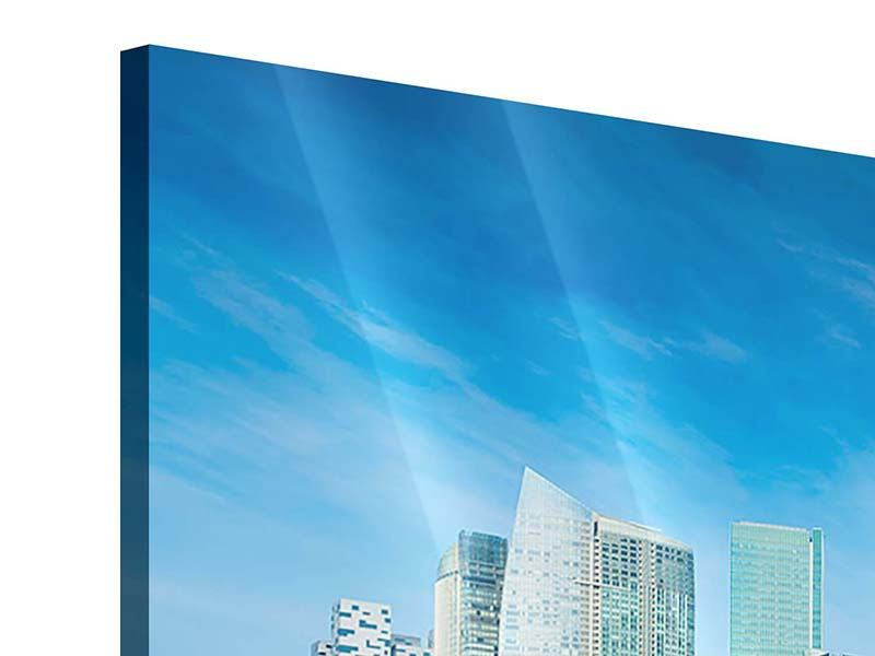 Acrylglasbild 3-teilig modern Skyline Mexiko-Stadt