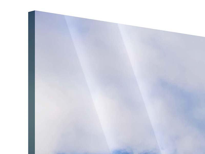 Acrylglasbild 3-teilig modern Der stille Berg