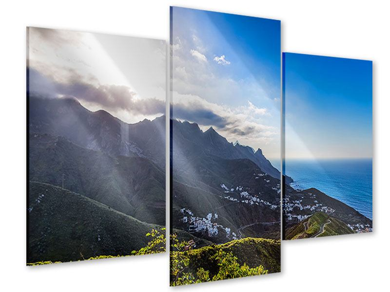 Acrylglasbild 3-teilig modern Der Frühling in den Bergen