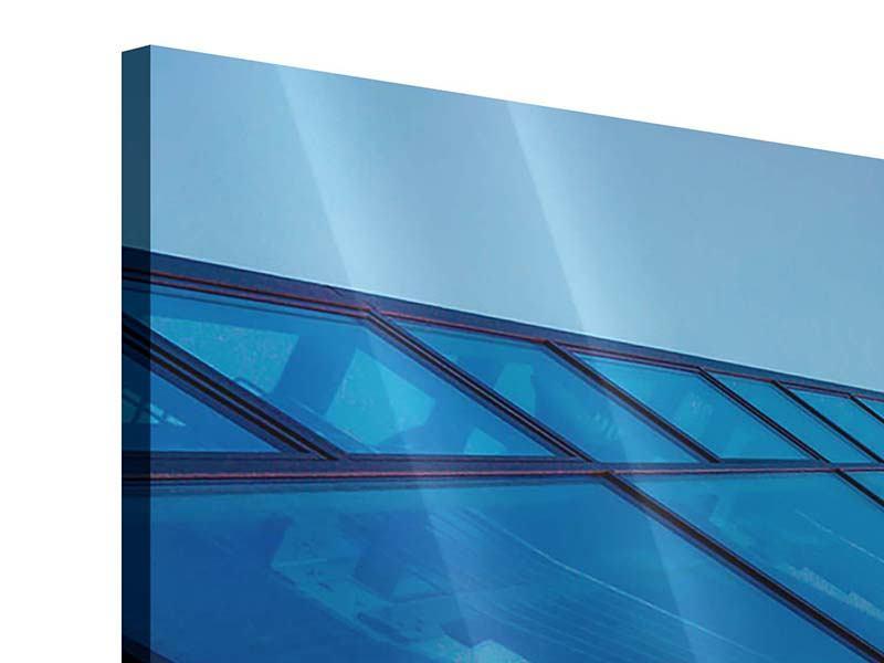 Acrylglasbild 3-teilig modern Wolkenkratzer-Highlight