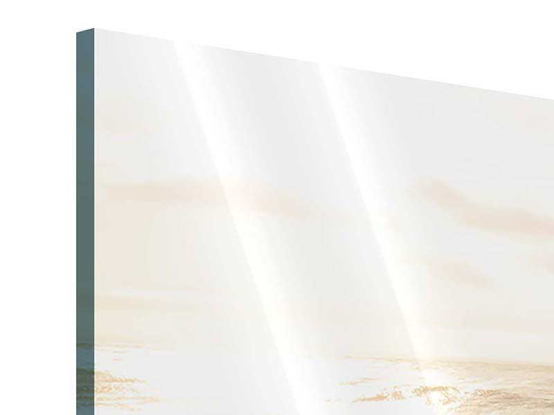 Acrylglasbild 3-teilig modern Meeresbrandung