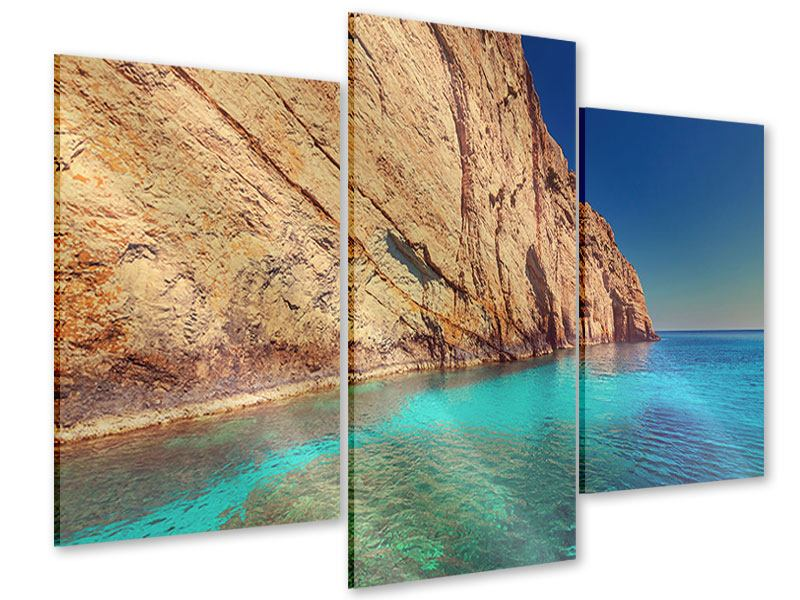 Acrylglasbild 3-teilig modern Wasser