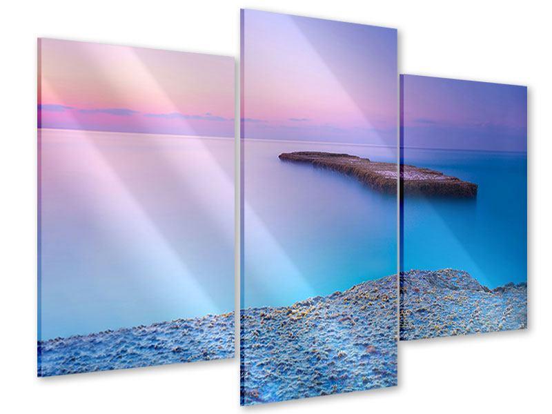 Acrylglasbild 3-teilig modern Unendlicher Ozean