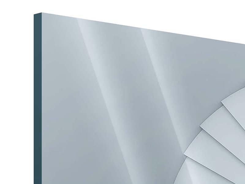Acrylglasbild 3-teilig modern 3D Wendeltreppe
