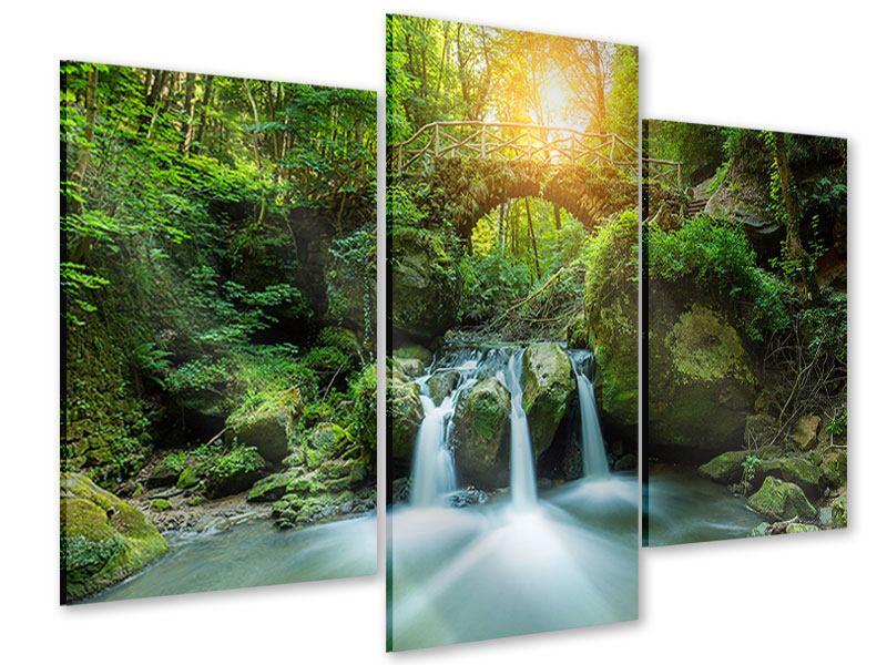Acrylglasbild 3-teilig modern Wasserspiegelungen