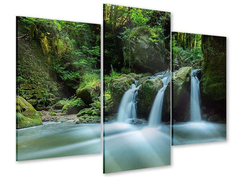 Acrylglasbild 3-teilig modern Fallendes Wasser