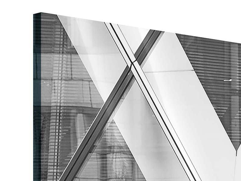 Acrylglasbild 3-teilig modern Teil eines Wolkenkratzers