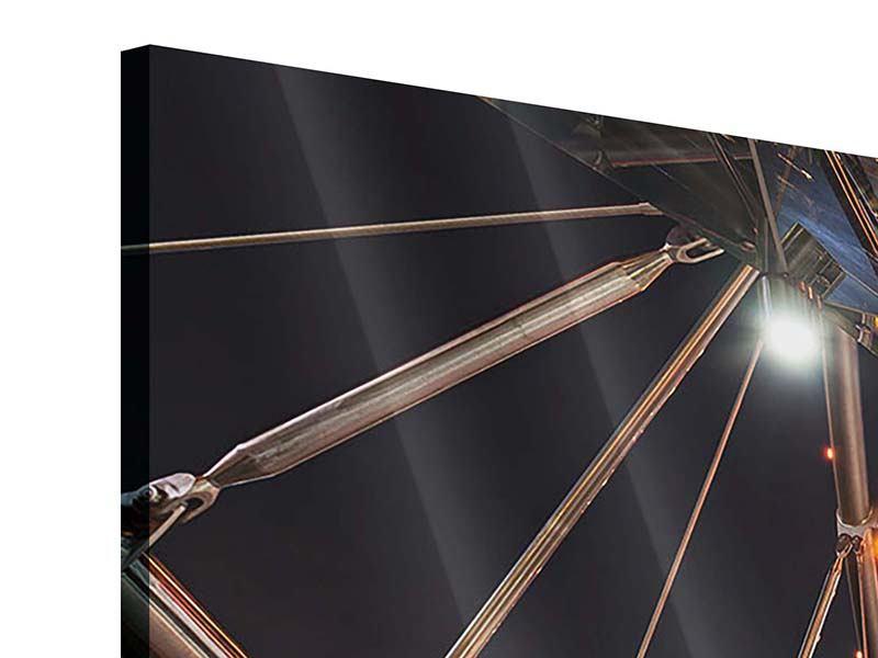 Acrylglasbild 3-teilig modern Brückenlichter