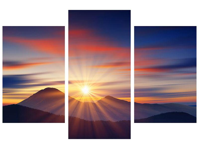 Acrylglasbild 3-teilig modern Märchenhafte Landschaft