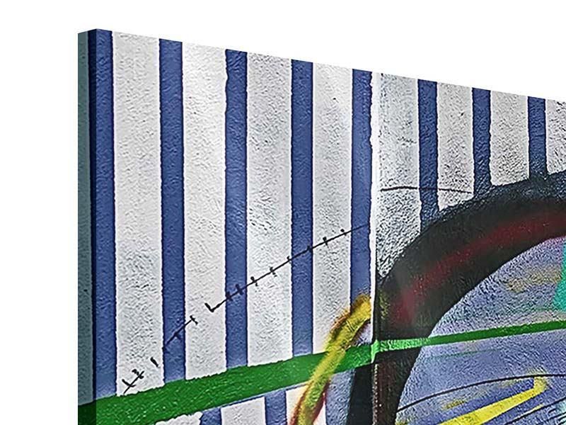 Acrylglasbild 3-teilig modern Künstlerisches Graffiti