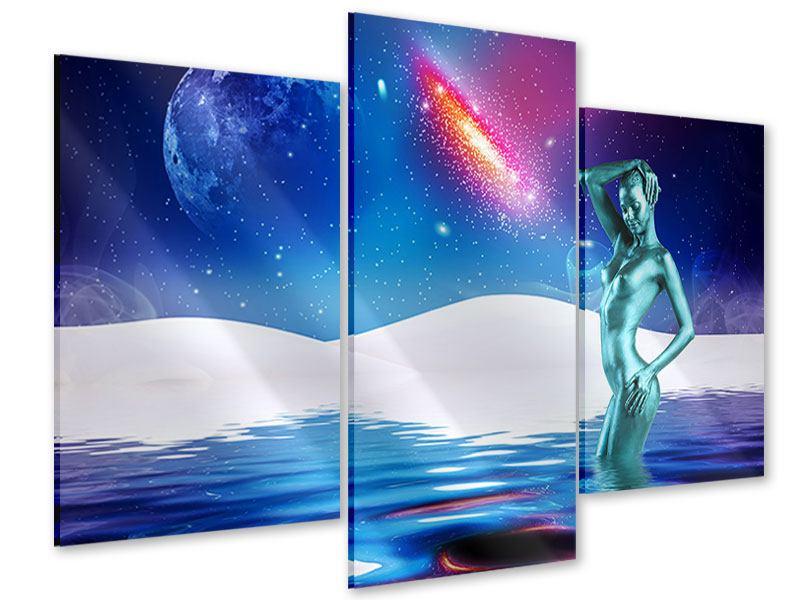 Acrylglasbild 3-teilig modern Mondgöttin