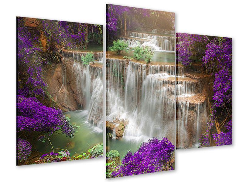 Acrylglasbild 3-teilig modern Garten Eden