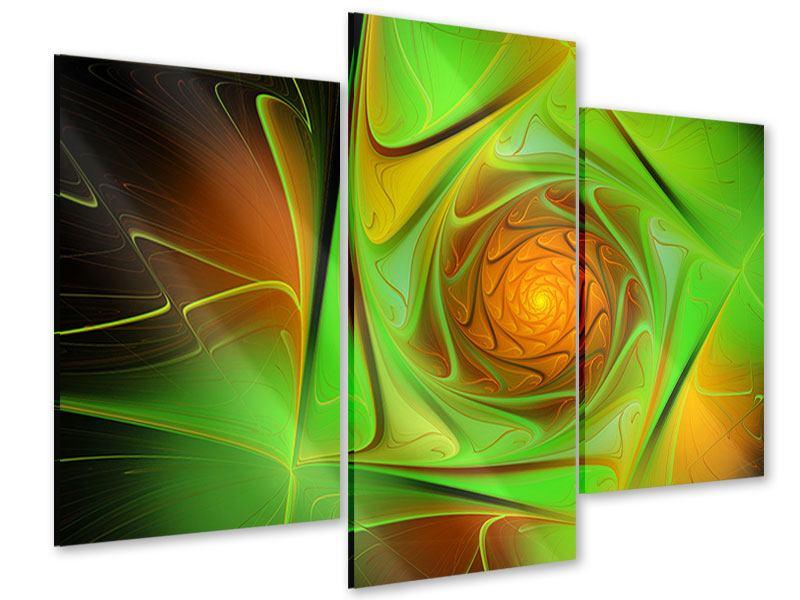 Acrylglasbild 3-teilig modern Abstraktionen
