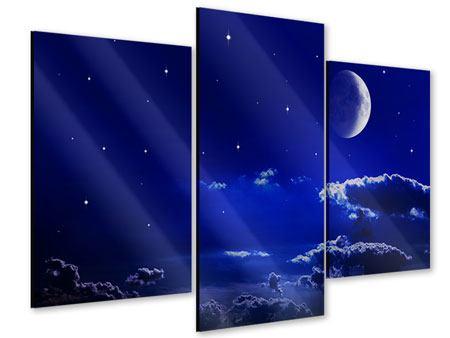 Acrylglasbild 3-teilig modern Der Nachthimmel